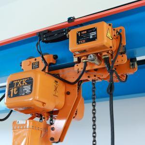 China TXK Electric Chain Hoist Double Lifting Speed , Single Beam 2 Ton Monorail Hoist Crane on sale