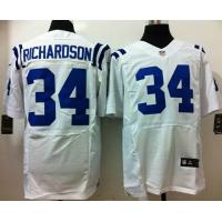 China Nike NFL Indianapolis Colts 34# trent richardson white elite jersey wholesale