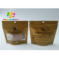 China CMYK Printing Heat Seal Packaging Bags , Smell Proof Stand Up Zipper Pouch Bags wholesale