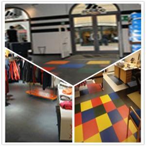 China 3W Plastic Vinyl PVC Anti-slip Interlocking Shoping flooring Mats wholesale