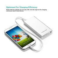 China White Compact Samsung Galaxy USB Power Bank fast charging 5000MAH 5v 1A output wholesale