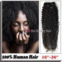 Buy cheap Natural Black 100 Indian Remy Hair Extensions 14