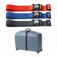 China Promotional Bag Straps/Printed Luggage Fastener/Trolley Belt, Various Colors are Available wholesale