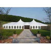 China Aluminum Structure High Peak Tent White PVC Fabric Waterproof / Flame Retardant on sale