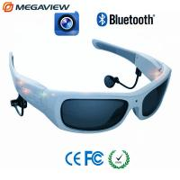 China Blue Frame Outdoor Sport Mini Hidden Camera Glasses High Definition wholesale