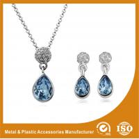 China Silver Plated Two Piece Bridesmaid Jewelry Sets With Synthetic CZ wholesale
