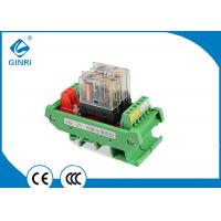 China DC24V PLC Amplifier Board I O Relay Module , 2 Channel Omron Relay Module High Low Trigger on sale