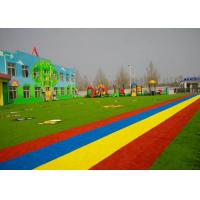 Buy cheap PE + PP Material Kindergarten Flooring With Flat Yarn Shape Light Green from wholesalers