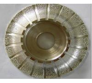 China Vacuum brazed diamond profile wheel wholesale