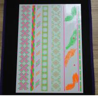 China Non - Toxic Neon Temporary Sticker Tattoos , Water Transfer Temp Fake Tattoo Stickers wholesale