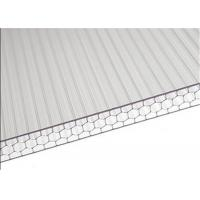 China Sandwich Polycarbonate Roofing Sheets High Light Transmission For Carport wholesale
