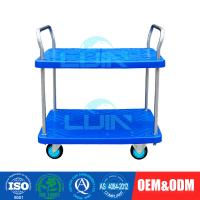 China Two layer Light-duty Moving Platform Trolley Convenient Installation Convenience Hand Pull Trolley wholesale