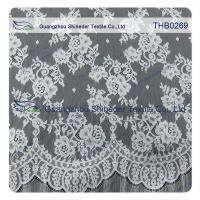 China Countless flowers  3*1.5m size  100% nylon chantilly lace fabric for Wedding dress wholesale