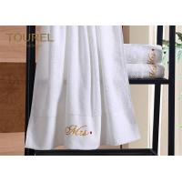 China 100 Cotton Embroidery Hotel Towel Set / Jacquard Luxury Hotel Bath Towels wholesale