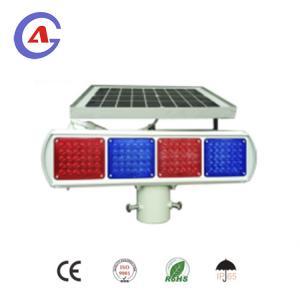 China LED solar powered blinking led lights traffic warning light on sale