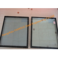 China 300mmx300mm 5mm Glass Curtain Wall Facade , Double Silver Insulated Low E Glass wholesale