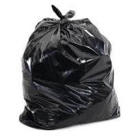 China Plastic 33 Gallon HDPE Garbage Bag Roll 1.2 Mil Thickness Side Gusset PP String wholesale