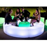 China LED curved benches , 120 X 40 X H40 cm LED outdoor Glowing Furniture wholesale