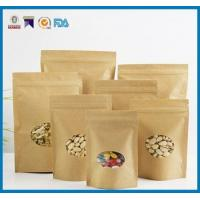 China FDA Brown Paper Food Bags , USDA Food Packaging Paper Bags Matte Finshed wholesale