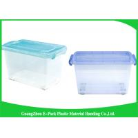 China Light Weight Clear Storage Boxes New PP Waterproof Household Portable With Lid on sale