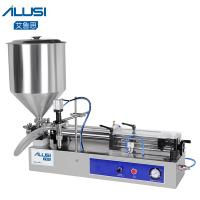 China Semi-auto Lotion Cosmetic Filler HoneyCream Piston Paste Liquid Filling Machine wholesale