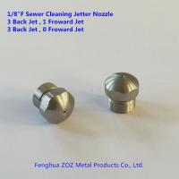 "China 1/8"" Drain sewer jetting cleaning nozzles  , sewer pipe cleaning nozzle wholesale"