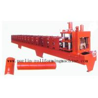 China Color Steel Roof Ridge Cap Roll Forming Machine For Theatre / Garden Roofing wholesale