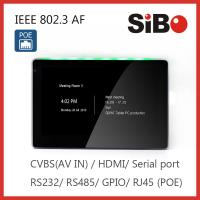 China Smart Home Automation Wall Mounted 7 Inch Android POE Touch Panel Customized LED Light on sale