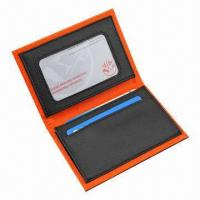 China Leather Card Holder, Keep in Stock, 100pcs MOQ, OEM Orders are Welcome wholesale