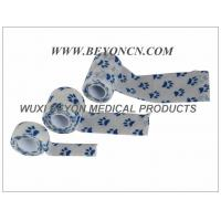 China Printed Cohesive Elastic Bandage Paw Prints Vet Wrap  Fix Dressing Cold Hot Packs wholesale