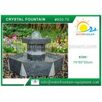 China Customized Crystal Ball Fountain , Feng Shui Ball Fountain Black Base Pedestal wholesale