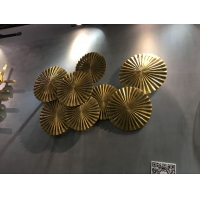China Living Room Modern Metal Wall Sculpture Creative Wall Hanging Statues wholesale