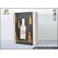 China High End Paper Wine Box Gold Hot Stamping Finishing Hardcover Hand Box wholesale