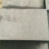 China China Granite Dark Grey G654 Granite Combed Floor Tile Paving Stone Axed Chopped 60x30x3cm on sale