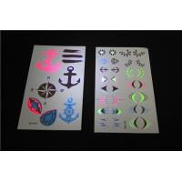 China UV Black Light Neon Fluorescent Temporary Tattoos , Childrens Temporary Tattoos wholesale