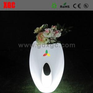 China 46 × 46 × 80 cm Colors Changing Waterproof PE Material LED Flower Pots,Decor Flower Pots wholesale