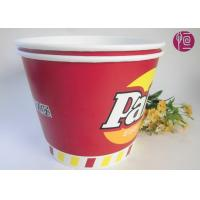 China 120oz Paper Popcorn Buckets Logo Printed , Disposable Popcorn Containers wholesale