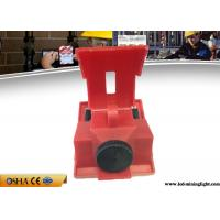 China Red Clamp On Circuit Breaker Lockout For 120V - 277V Circuit Breaker wholesale