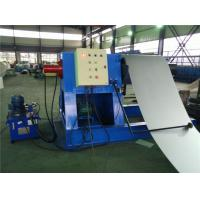 China Hydraulic Decoiler Coil Slitting Machine For Color Steel 2 Rubber Stations wholesale