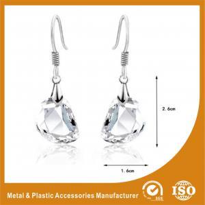 China OEM / ODM Womens Silver Metal Earrings Hook Zinc Alloy Plated wholesale