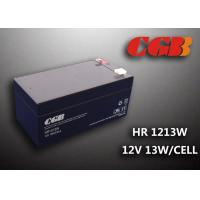 China HR1213W 12V 3.5AH High Rate Discharge Battery , Security Long Life Lead Acid Battery Rechargeable wholesale