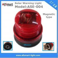 China Red Solar Traffic Warning Lights With Magnet Municipal Road Construction magnetic Safety Warning Lighting model ASE-004 wholesale