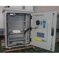 China Single Wall Heat Insulated 15U Pole Mount Cabinet / Thermostatic Outdoor Box With Peltier Cooler wholesale