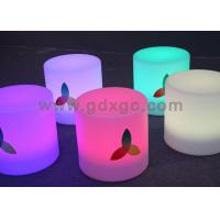 China Nontoxic and peculiar smell LED round bar stool , LED Cube Chair wholesale
