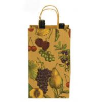 Quality new product china supplier brown kraft wine bottle paper bag with CMYK printing for sale