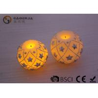 China Eco Friendly Round Led Candles , Holiday Led Candles Star Shape wholesale