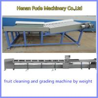 China potato grading machine, Fruit Cleaning and Grading Production Line,tomato weight sizer wholesale