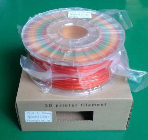 China 3 colors/spool spendid PLA filament wholesale