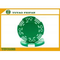 China Poker And Hearts Style Two Solid Color Mold Customized Clay Poker Chips wholesale