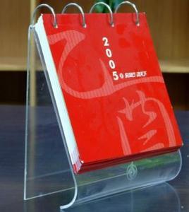 China High Quality Desktop Acrylic Calendar Holder With Fashion Shape wholesale